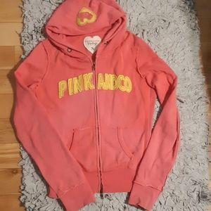 Pink & Co. Vintage Full-Zip Hoodie